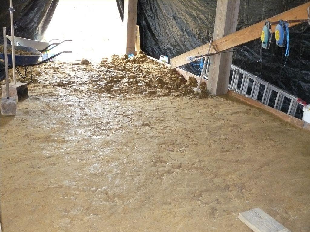 maison cologique dans l ain dalle en terre battue